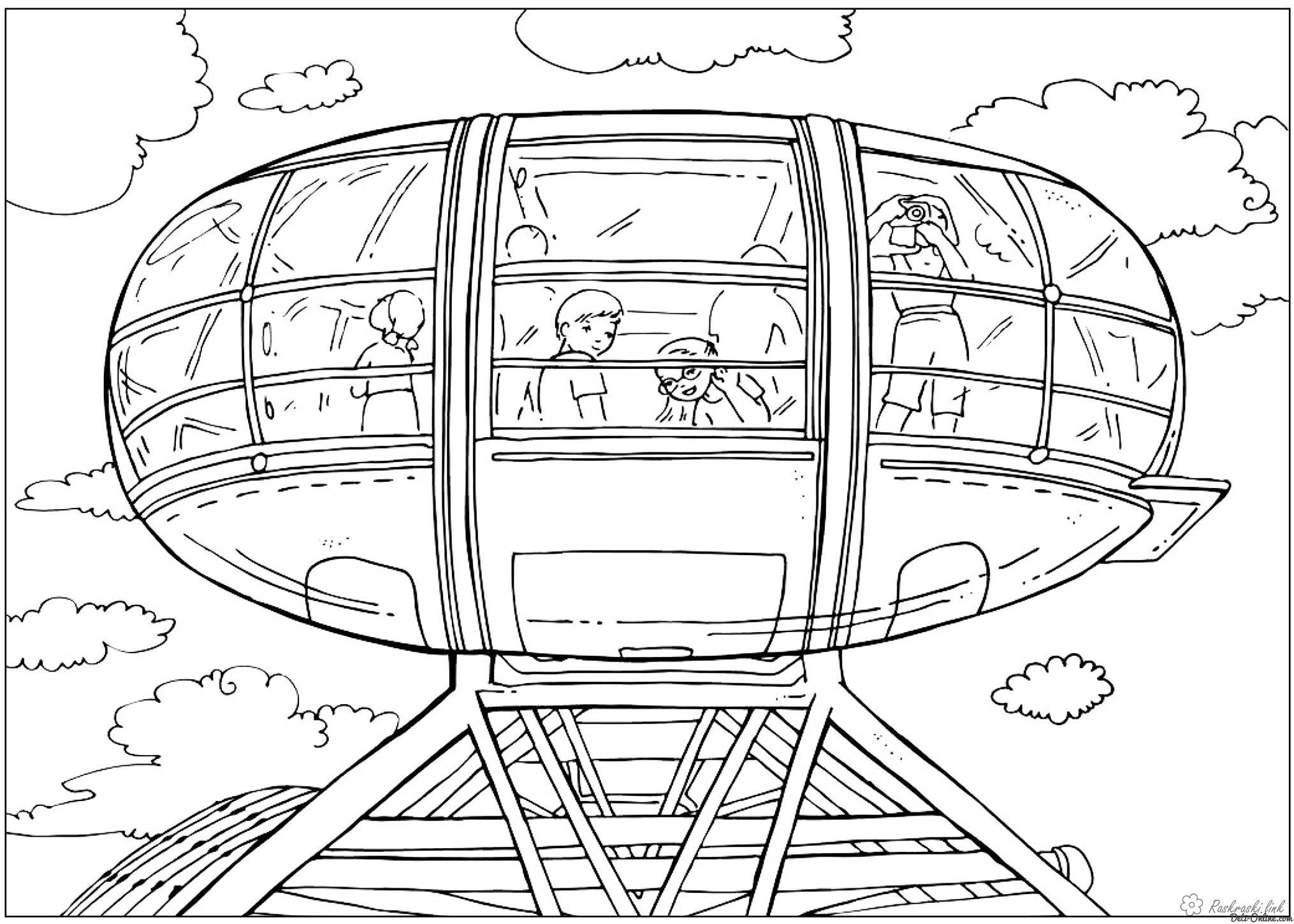 Coloring London coloring pages London Eye - Ferris Wheel UK