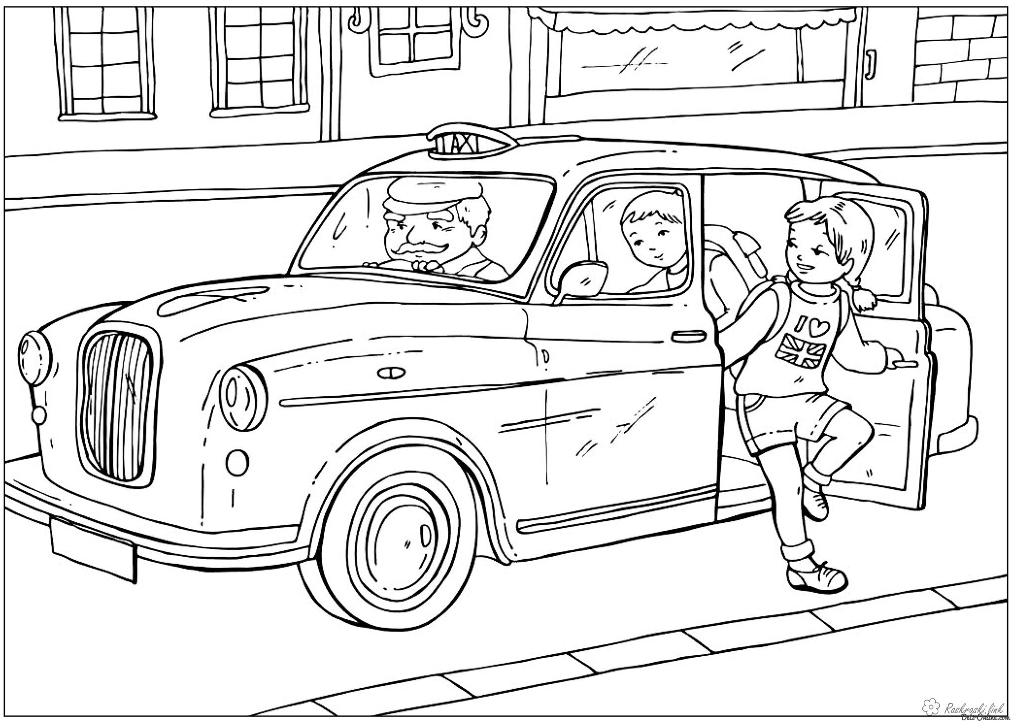 Coloring London coloring pages British taxi UK
