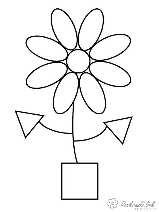 Coloring Paint geometric shapes coloring pages of geometric shapes