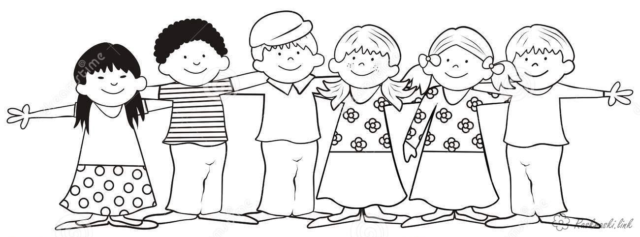 дети Раскраски распечатать бесплатно.
