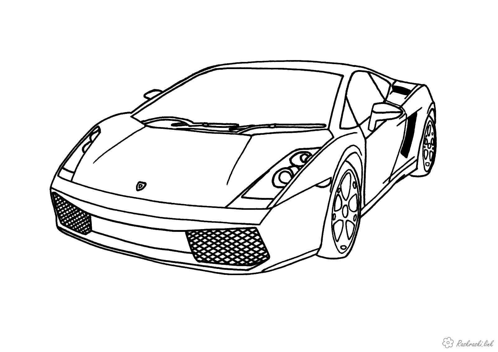 Coloring boys Sports car