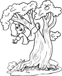 Розмальовки дівчинка Свято 1 червня День захисту дітей дівчинка дерево