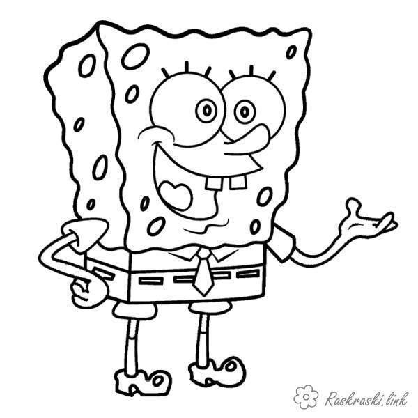 Розмальовки Губка Боб Розмальовки для дітей Губка Боб