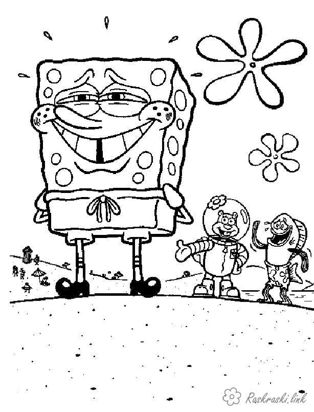 Розмальовки сенді Губка Боб розмальовки для дітей, Сенді
