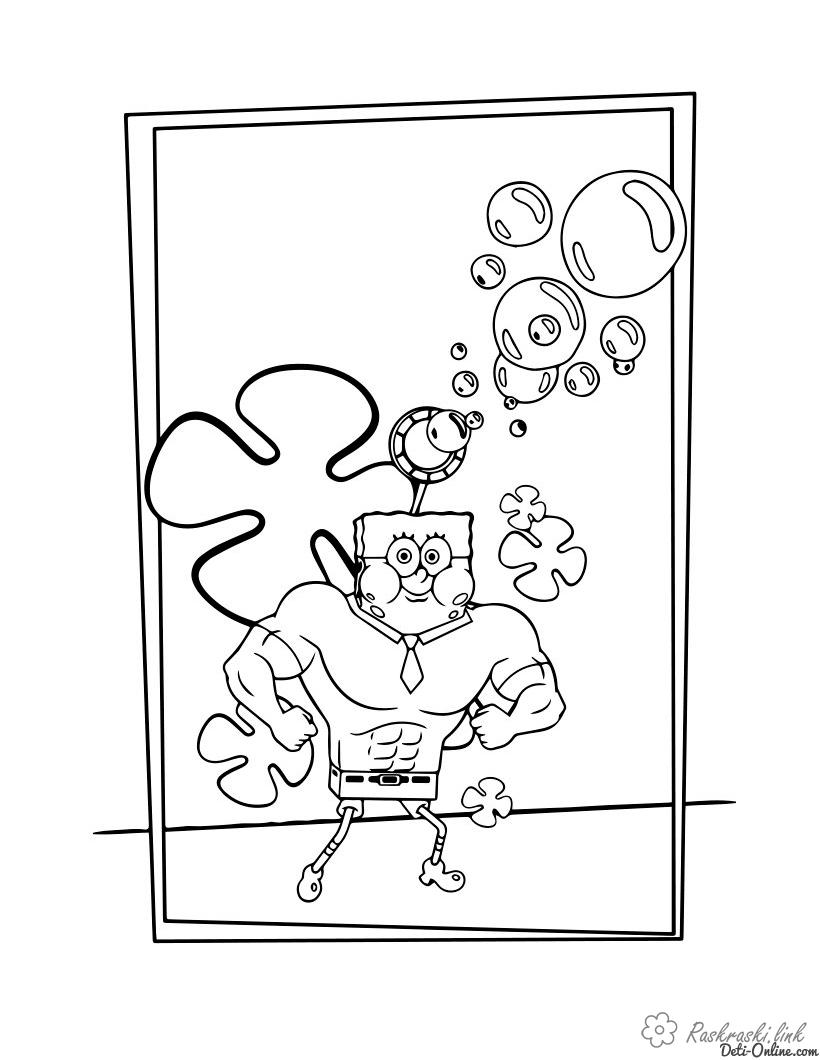 Coloring nickelodeon SpongeBob, bubbles, coloring pages