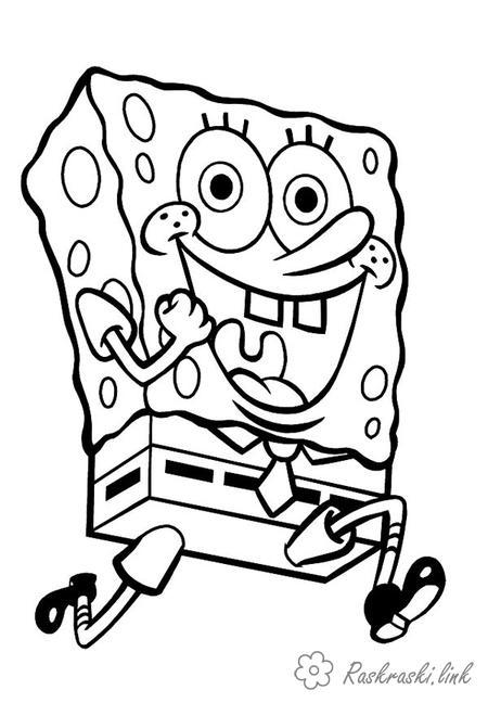 Розмальовки спанч Спанч Боб, розмальовки для дітей