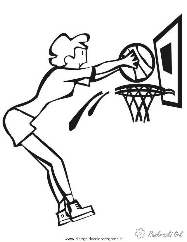 Розмальовки дівчина баскетбол, гра, спорт, дівчина