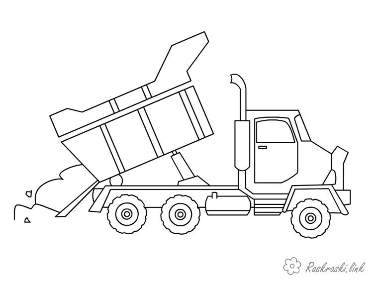 Coloring Cars Truck coloring pages