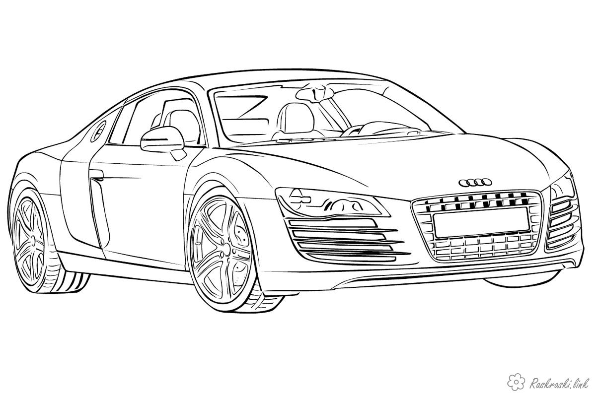 Coloring Cars Audi passenger car coloring pages