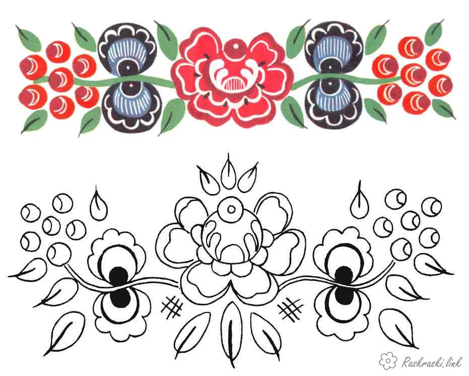 Coloring coloring pages color pattern with flowers