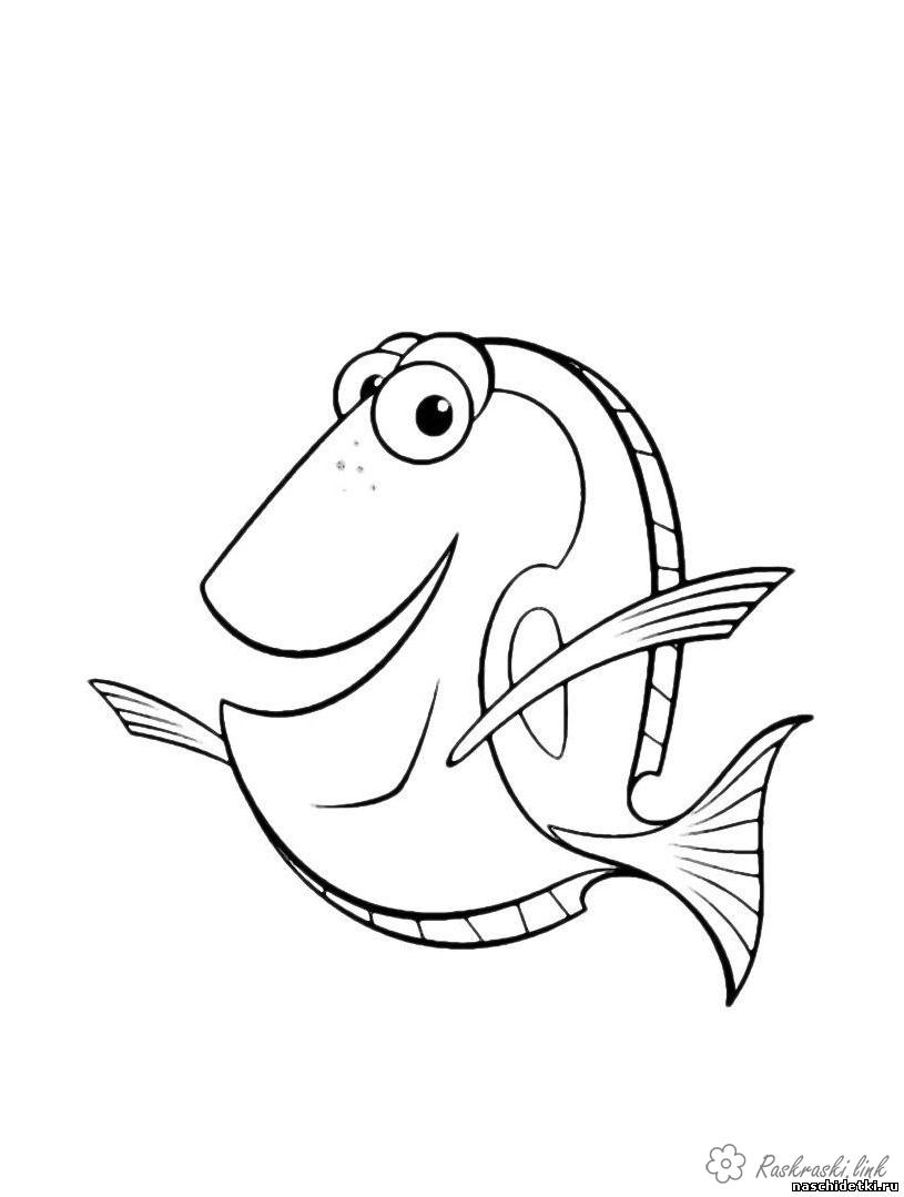 Coloring Finding Nemo Finding Nemo fish