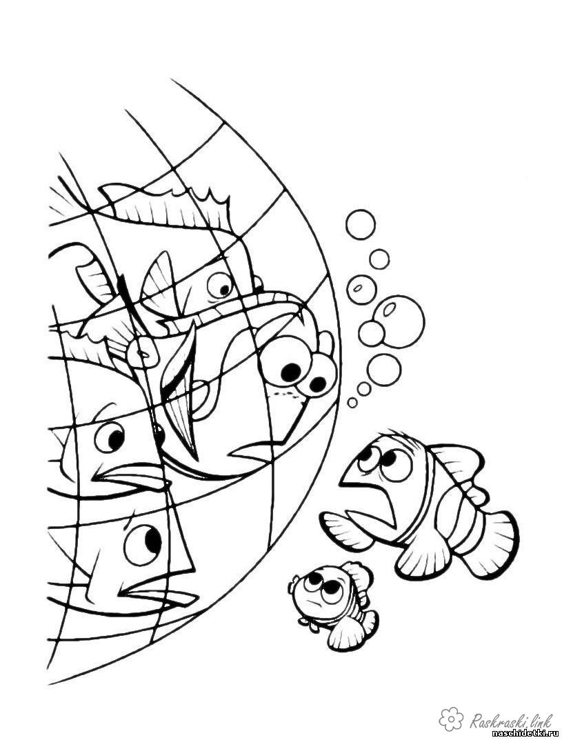 Coloring Finding Nemo coloring pages for kids Finding Nemo