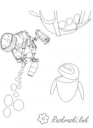 Coloring VALL-I raskarska for children WALL-E