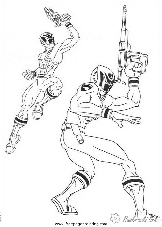 Coloring Power Rangers Rangers, weapons