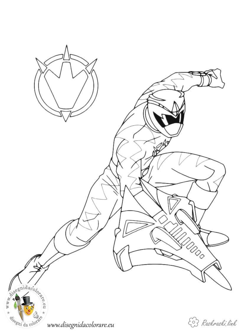 Розмальовки Могутні рейнджери могутні рейнджери, мультфільм