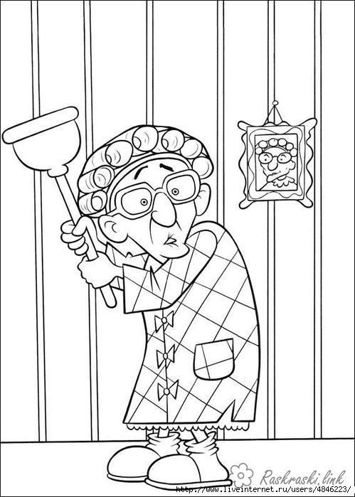 Розмальовки Рататуй бабуся з мультфільму рататуй