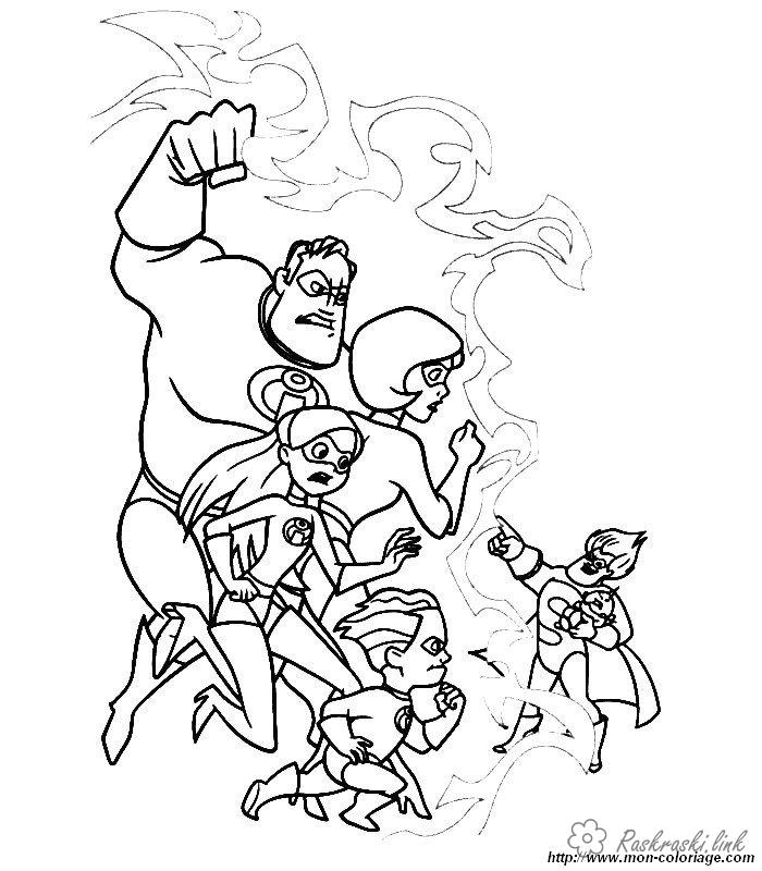 Coloring incredibles  Incredibles, coloring pages for kids