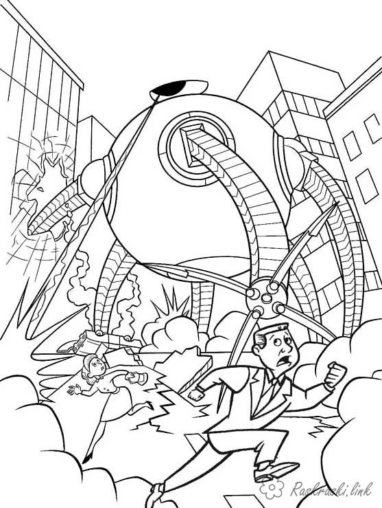 Coloring incredibles coloring pages Incredibles, robot tentacles