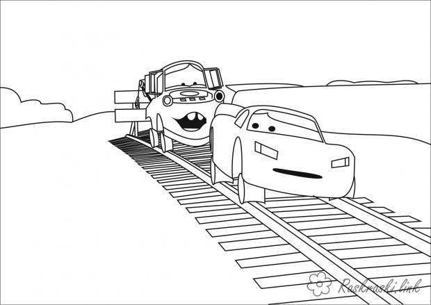 Coloring illustration coloring pages illustration for 2 cars