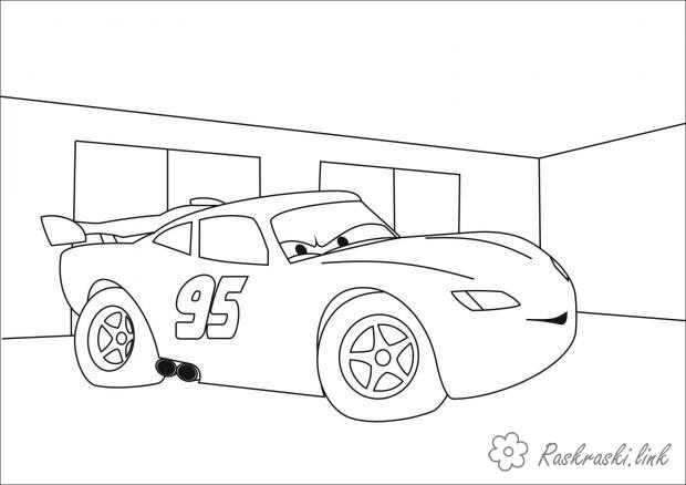 Coloring illustration coloring pages illustration for Cars 2 for children