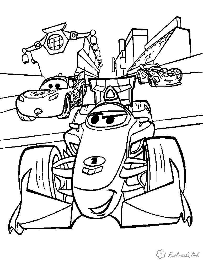Coloring cars 2 Heroes cartoon Cars 2