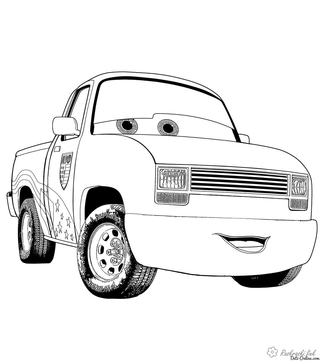 Coloring cars 2 Cars 2 jeep coloring pages