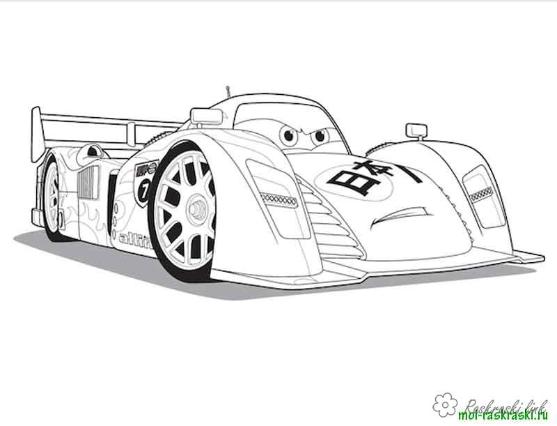 Coloring cars 2 coloring pages of the cartoon Cars 2