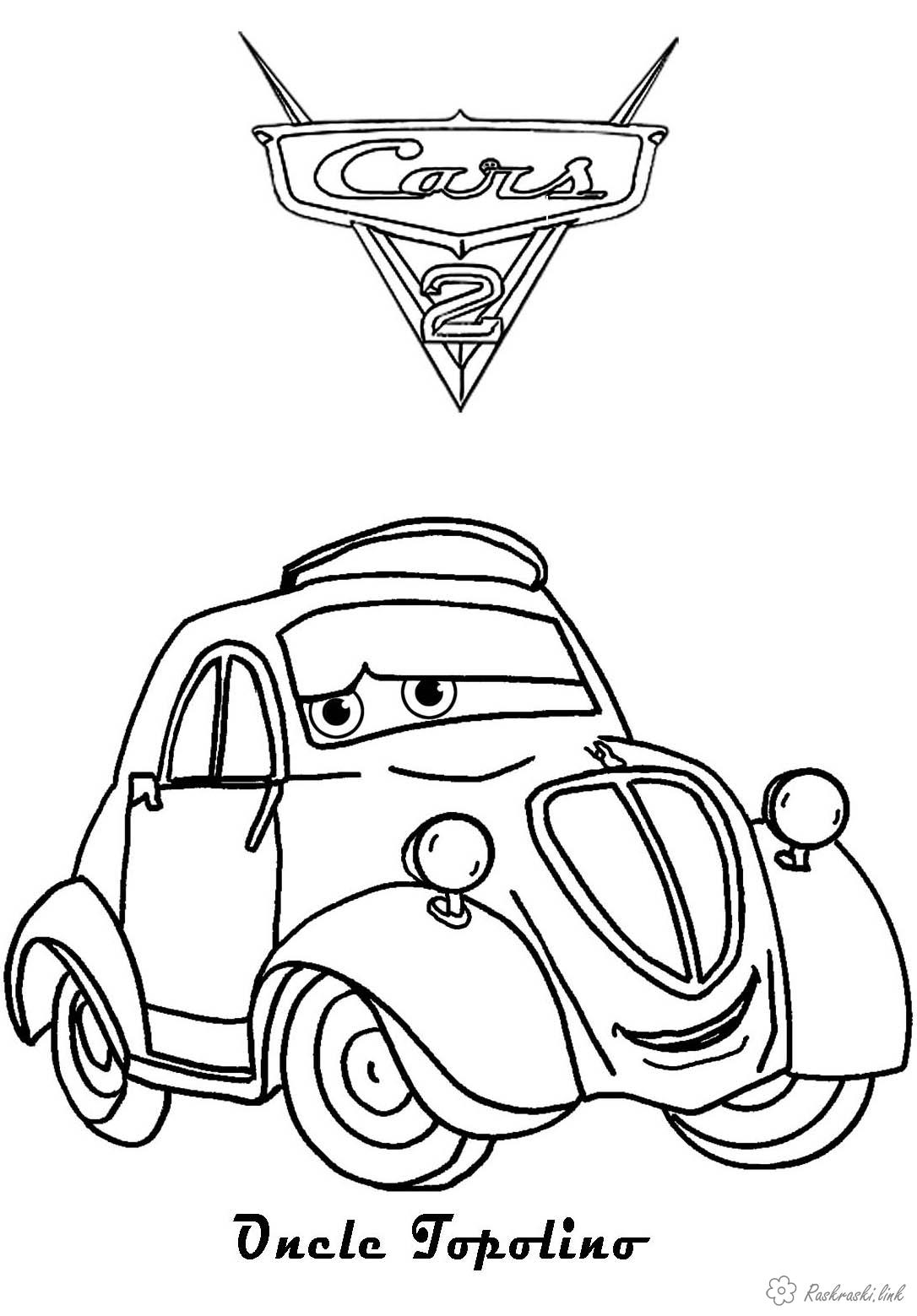 Coloring cars 2 Cars 2, the beetle coloring pages