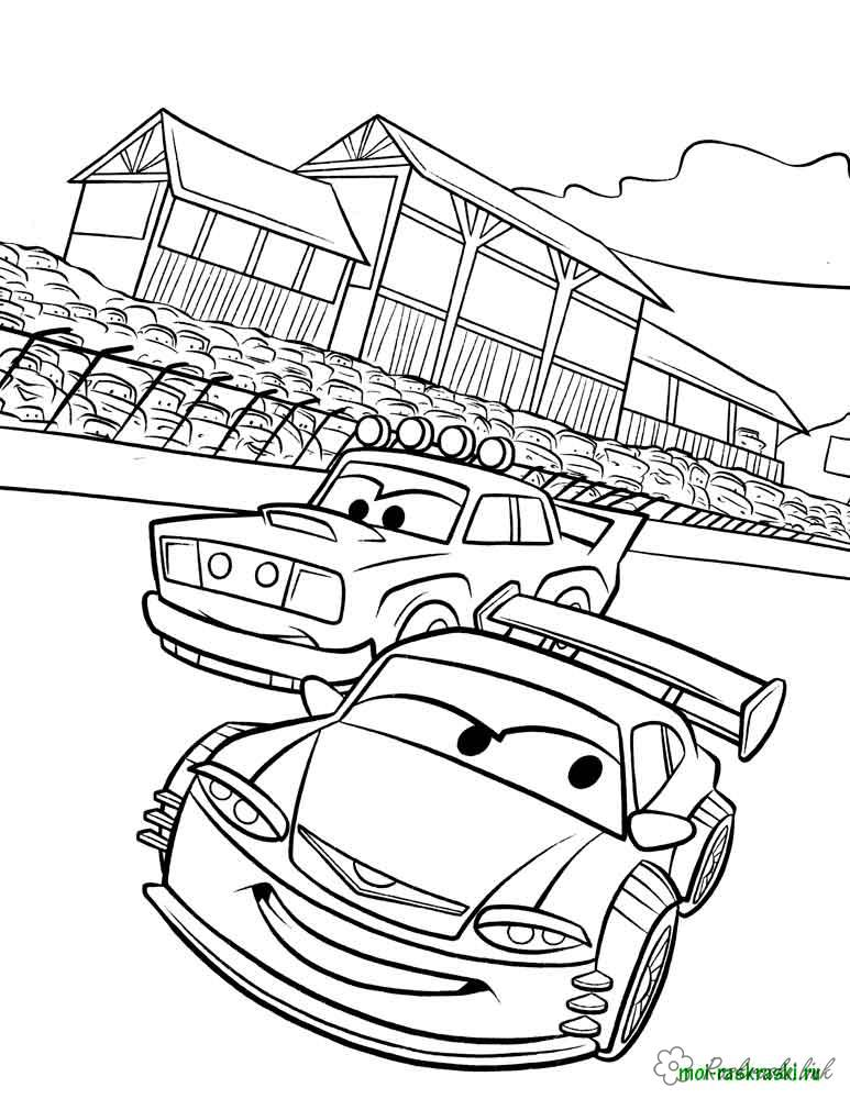 Coloring cars 2 coloring pages cars in the race, Cars 2