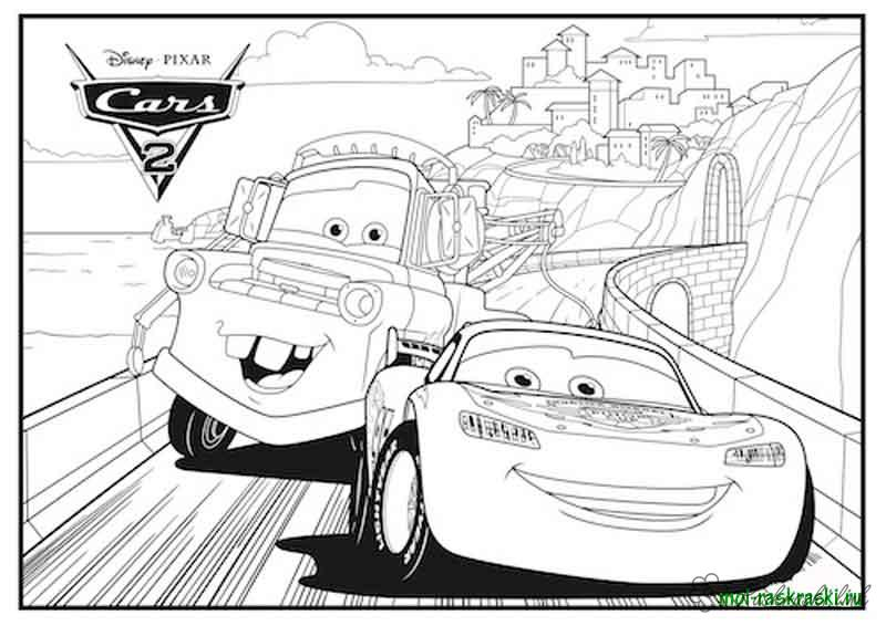 Coloring cars 2 Cars 2 friends on the track