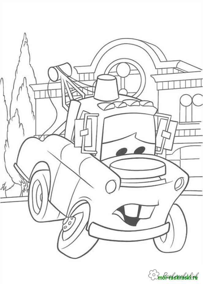 Coloring cars 2 machine cartoon Cars 2