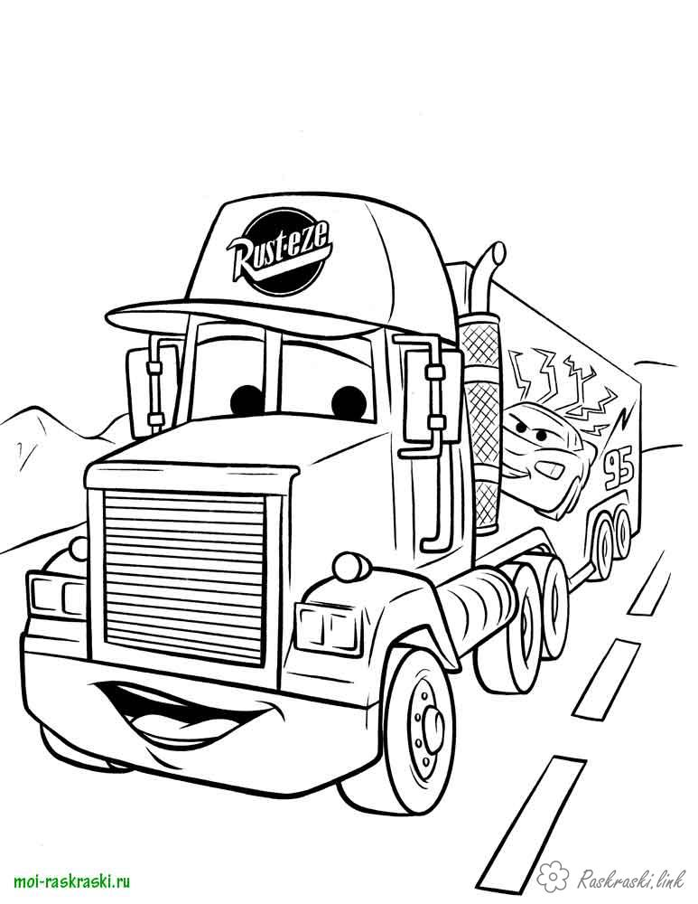 Coloring cars 2 2 cars, truck, cartoon coloring pages