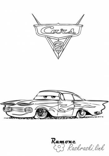 Coloring cars 2 coloring pages Cars 2, Ramon