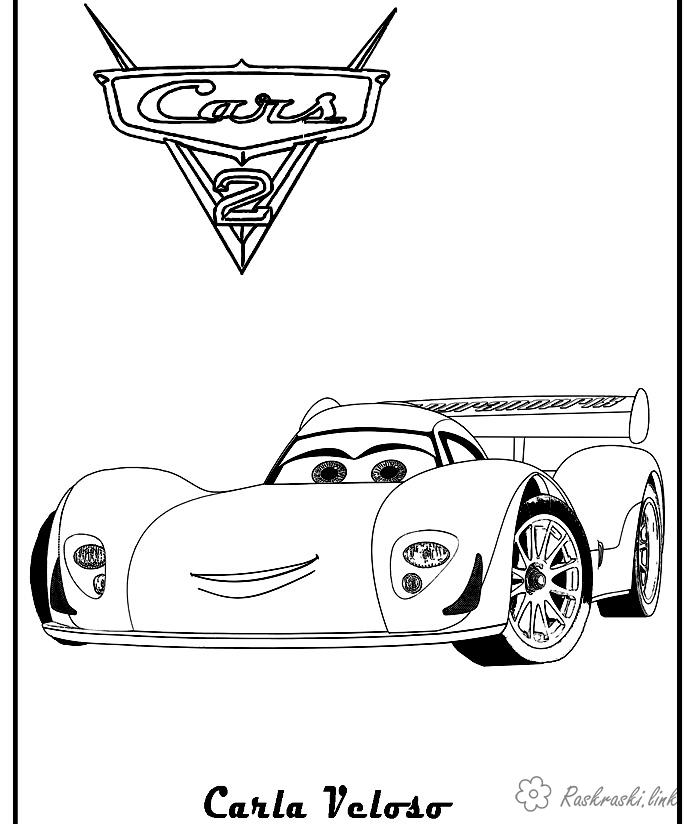 Coloring cars 2 coloring pages for kids, Cars 2, Charles