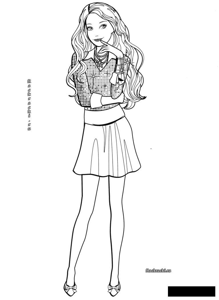 Розмальовки дівчинка Дівчинка, літо, зачіска, волосся