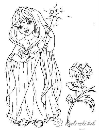 Розмальовки сяйво Дівчаткам, фея, гра, персонаж, світлячок, сяйво, посох
