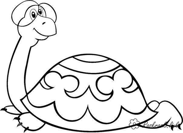 Розмальовки черепаха Радянський мультфільм, черепаха, пісенька, окуляри