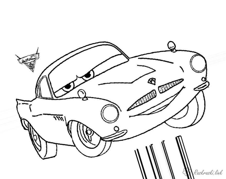 Coloring cars 2 2 cars, cartoons, coloring pages