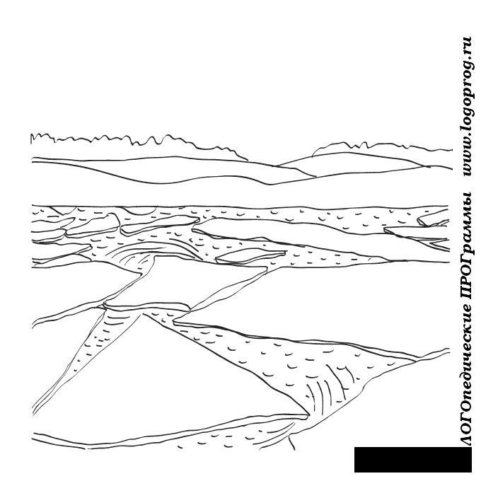 Розмальовки Явища природи природа природні явища відлига весна лід