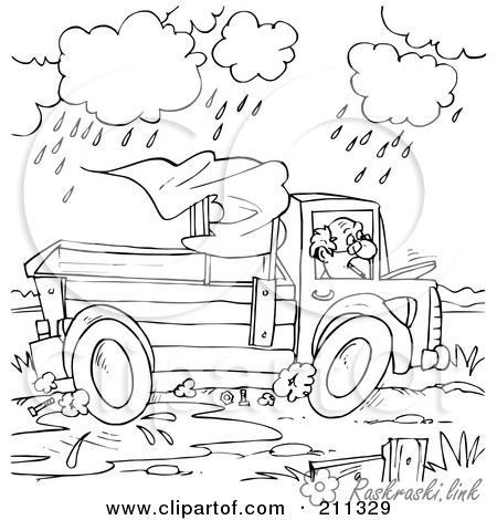 Розмальовки дощ природа явища природи дощ