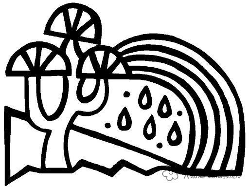 Розмальовки Явища природи природа природне явища веселка дощ