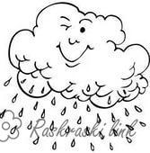 Розмальовки Явища природи природа дощ хмара природне явище