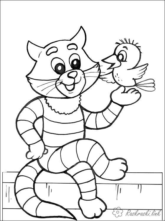 Розмальовки Вітчизняні мультфільми розфарбування по мультфільму Троє із Простоквашино, матроскин, дядько федор