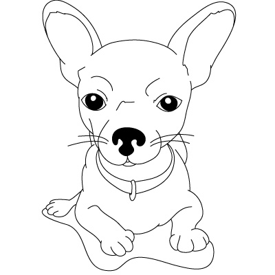 Раскраски природа раскраска смешной песик, маленькая собачка для детей
