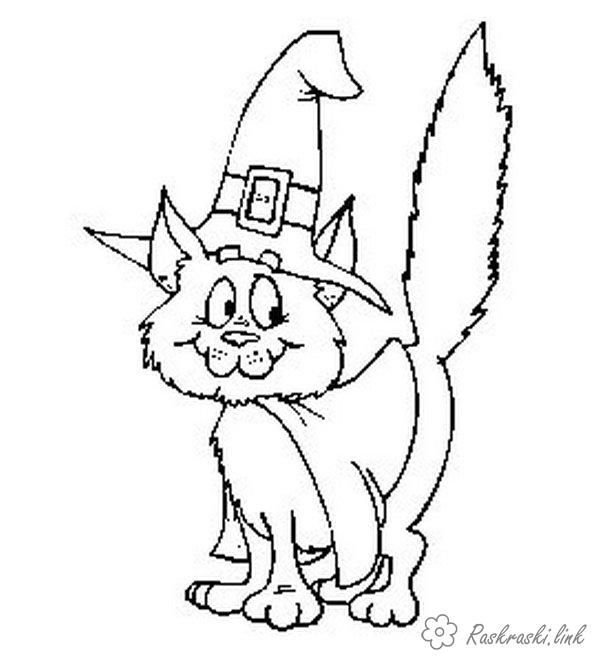 Coloring hat cat in the hat