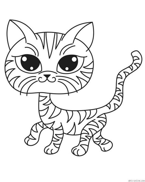 Кошки Раскраски распечатать бесплатно.