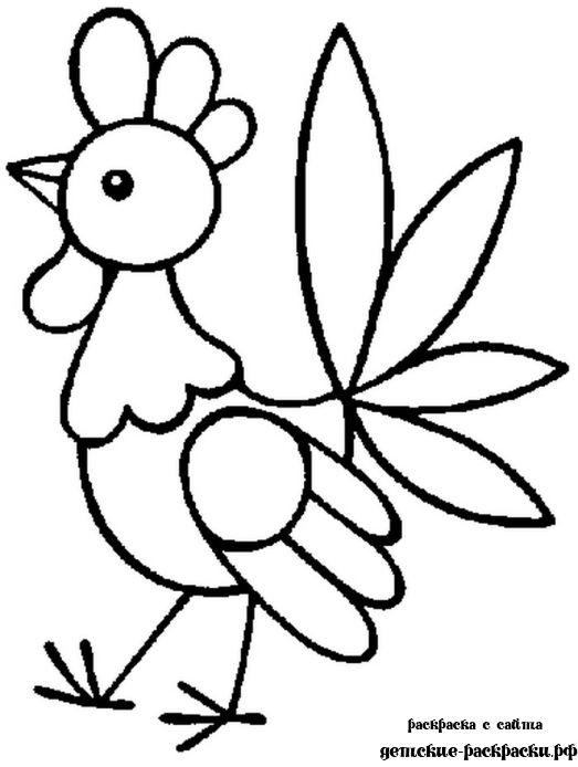 Раскраски природа забавный петушок, раскраски для детей