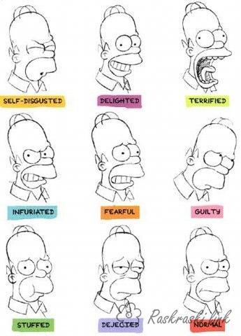 Розмальовки Емоції і почуття