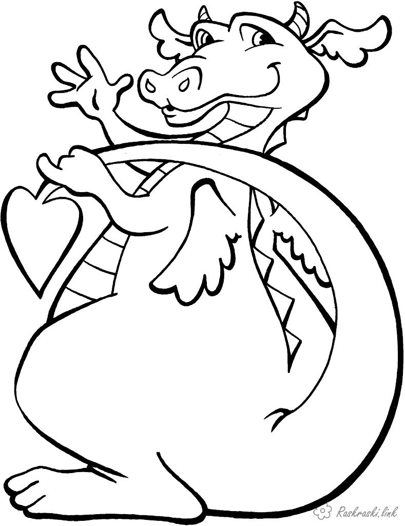 Coloring Boys coloring pages with dragons, evil dragons, flying dragons