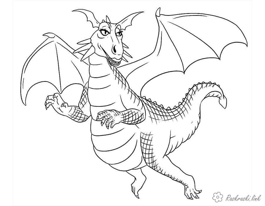 Coloring  Dragons dragon